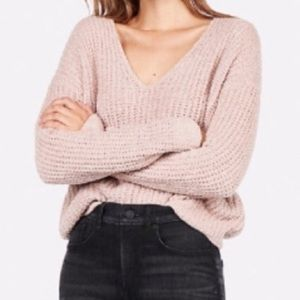 express pink chenille sweater
